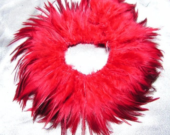 Red rooster feathers, saddle, hackle feathers, bulk, lot, wholesale, feather supply,