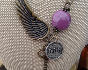 Winged Faith necklace