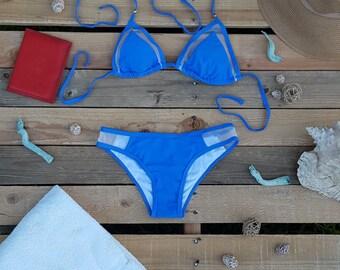 Blue Mesh Bikini- Bia