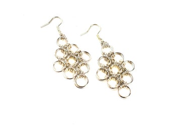 Japanese Weave Chainmaille Earrings