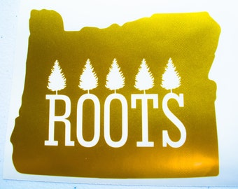 Oregon State Vinyl Decal - Laptop - Car Sticker - Pacific North West Sticker (Roots)