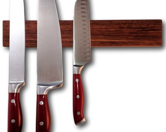Bubinga Wood Magnetic Knife Holder 12 inch Knootz Knife Strip