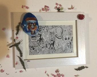 Devoradora offering bowl and framed print