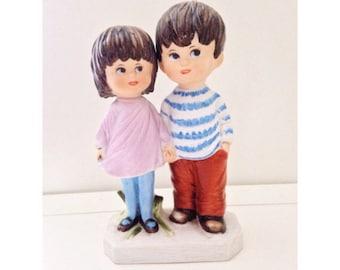 1971 Fran Mar moppet Boy & Girl figures