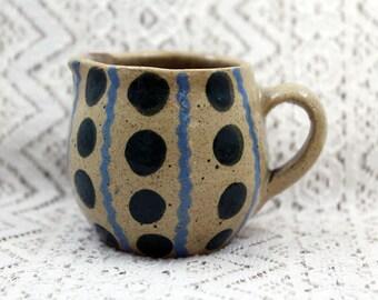 Miniature Pottery Pitcher, Marked France, Mini Pitcher, Mini Pottery Pitcher