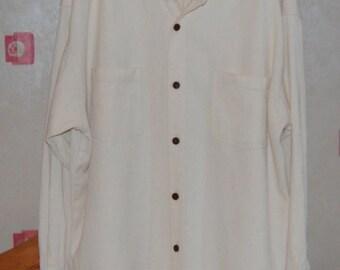 Hemp Shirt long Sleeve size 4XL long length