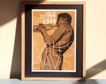 Miles Davis Live at the Village Vanguard - A3 gicleé print
