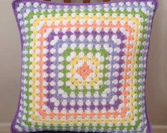 Granny Square Pastel Cushion - Nursery, Baby Shower, Baby