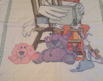 Handmade handstitched blanket