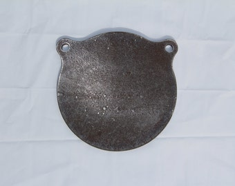 8 inch AR500 Gong 3/8 thick steel shooting target
