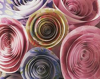 Medium twisted paper flower bouquet.