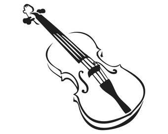 Violin Decal Etsy