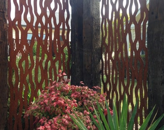 Metal  Art rust Tree Bark feature wall panel privacy screen