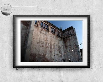 Old Building Print | Architecture Photography | Architecture Print | Digital Wall Art | Printable Wall Art | Brick Building | Building Photo