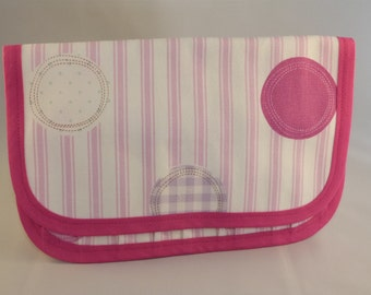 Pink Stripe Tool Roll