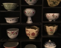 Miniatures of Imperial Dynasties Rare Complete Set (Tea Cups, Bowls, Plates & Vases) with Display Cases
