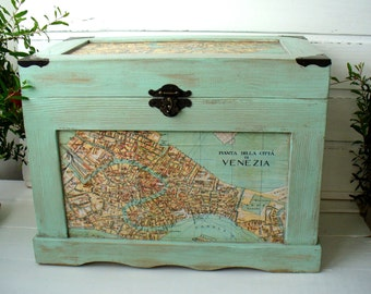 Wooden chest, Wooden box, Home Decor, French decor, storage boxes,  Country Chic