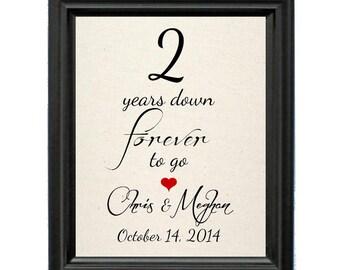 Cotton Wedding Anniversary Gift | 2nd Wedding Anniversary | 2 Year Wedding Anniversary | 2nd Anniversary Gift | 2 Year Cotton Anniversary