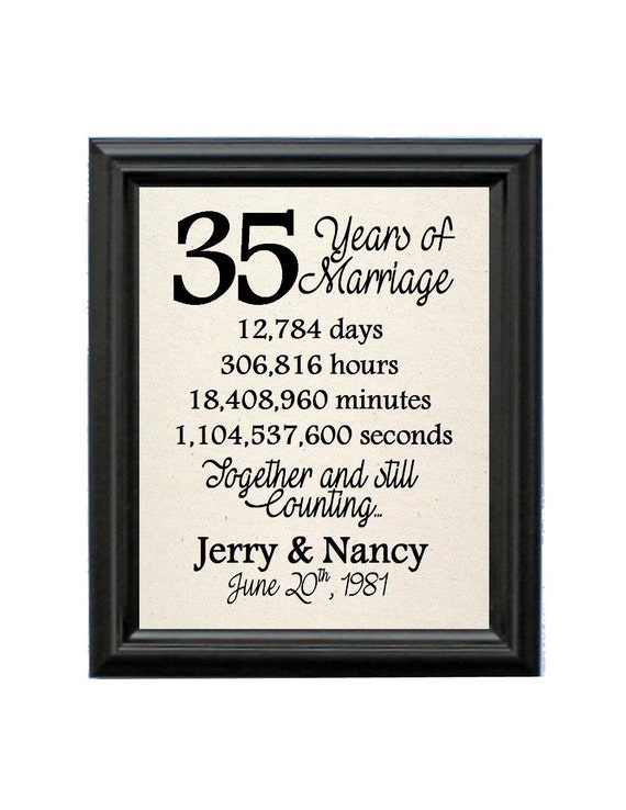 ... Gift 35th Wedding Anniversary Gift for Wife Anniversary Gift