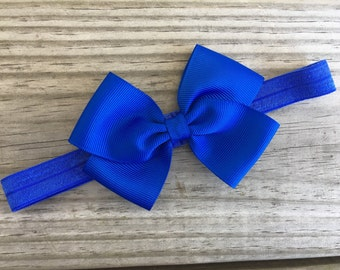 Blue Headband / Blue Bow / Baby Headband / Toddler Headband