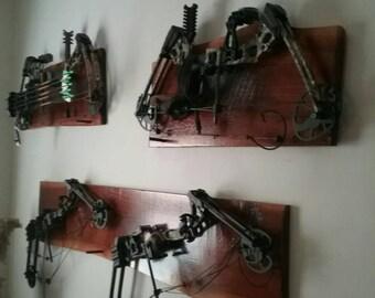 Custom cedar bow racks,
