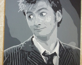 Dr. Who David Tennant Painting