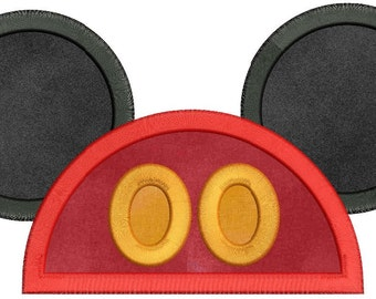 Mickey Mouse Applique 01 Embroidery Design