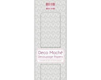 3 paper mache Deco 26 x 37.5 cm First edition SILVER money