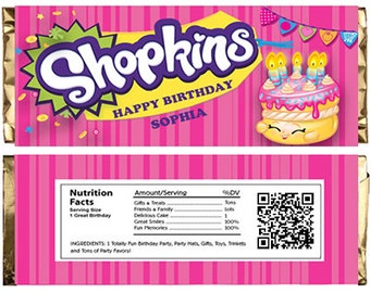 Shopkins Themed Chocolate Bar Wrappers. Download Customize Print Shopkins Chocolate Bar Wrappers Shopkins Chocolate Bar Wraps 1.5 oz 43g