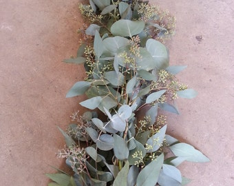 Seeded Eucalyptus And Silver Dollar Eucalyptus Garland