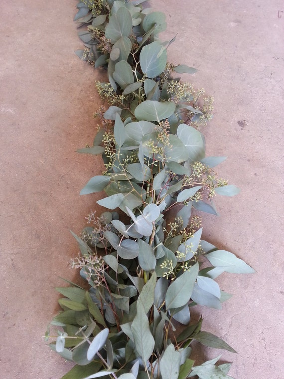 Seeded Eucalyptus Garland for Christmas Decorations