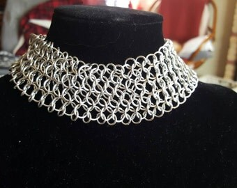 Chainmail Necklace brightsilver