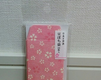 mini mini envelope, tiny envelope, made in Japan, Washi, sakura, cherry blossom