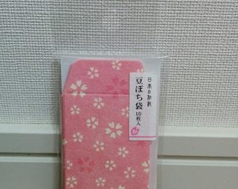 mini mini envelope, tiny envelope, made in Japan, Washi, sakura, cherry blossom