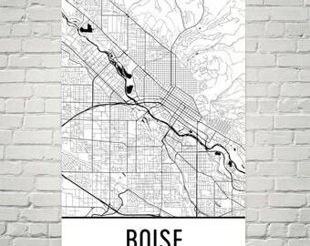 Boise Map, Boise Art, Boise Print, Boise Idaho Poster, Boise Wall Art, Boise ID Gift, Map of Boise, Boise Decor, Boise Gift, Modern, Print