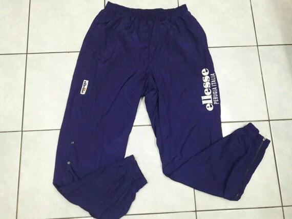 vintage Ellesse Perugia Italia jaspo sweatpant sport track large rare  streetwear jogging athelic pant purple
