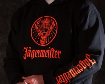 Jagermeister Hoodie, logo embroidered
