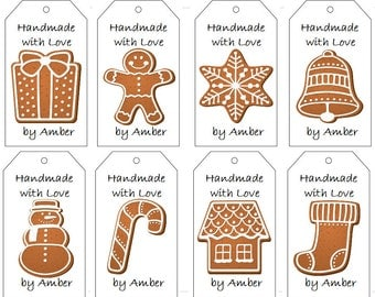 Christmas Cookie Gift Tags- PDF File