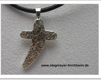 Asymmetric cross Silver 925-Handarbeit-(AKR-1107)