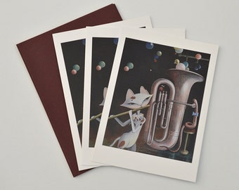 Kitty's Band Note Card Set