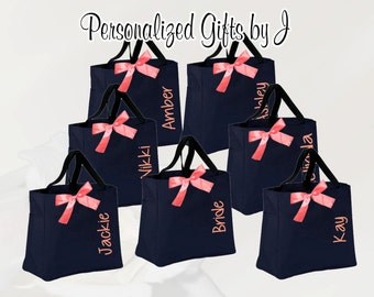 Wedding Tote, Personalized Bridesmaid Gift Tote Bag Monogrammed Tote, Bridesmaids Tote, Personalized Tote