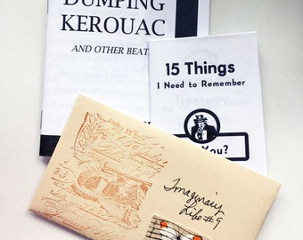 3 Pack of the Newest Ponyboy Press Zines - Dumping Kerouac, 15 Things I need to Remember and Imaginary Life no 9