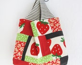 Patchwork Tote Bag | Reusable Reversible Market Grocery Shopping Project Bag