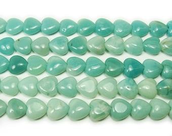 Amazonite Natural Heart Gemstone Beads