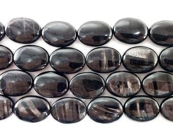 Hypersthene Oval Gemstone Beads