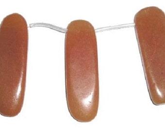 Red Aventurine Flat Sticks Gemstone Beads