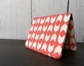 Card Wallet - Coral Chevron Arrow