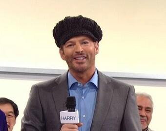 As Seen on Harry!  Crochet Newsboy Hat - Dark Grey Women's Hat with Brim - Women's Crochet Hat - Gray Hat