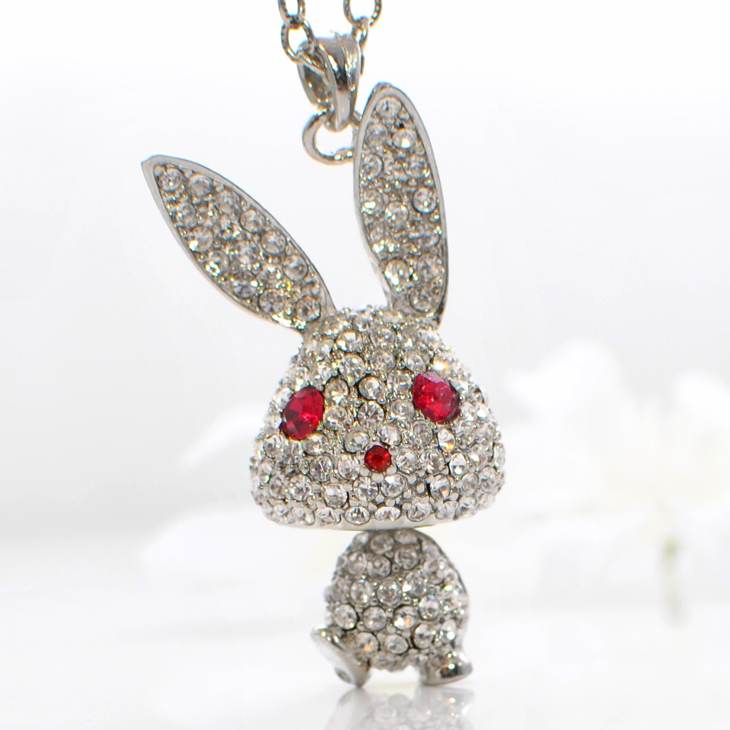 bunny earrings bunny jewelry rabbit pendant necklace puttin on 575