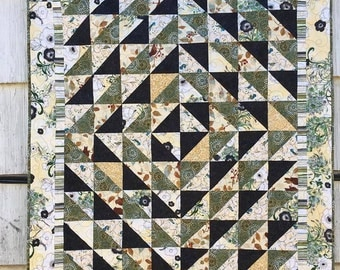 Triangulate Lap Quilt, Beginner Quilt Pattern, PDF Download, Easy Quilt Instruction, Sewing pattern, Half Square Triangle Pattern